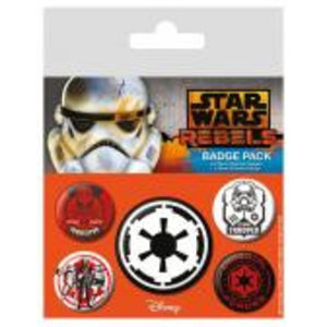 Merchandising STAR WARS - Pack 5 Badges - Rebels Villains