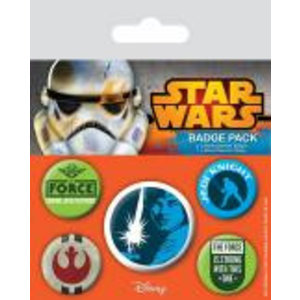 Merchandising STAR WARS - Pack 5 Badges - Jedi