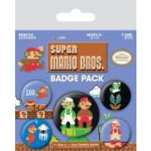 Merchandising NINTENDO - Pack 5 Badges - Super Mario Bros
