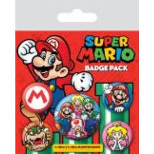 Merchandising NINTENDO - Pack 5 Badges - Super Mario