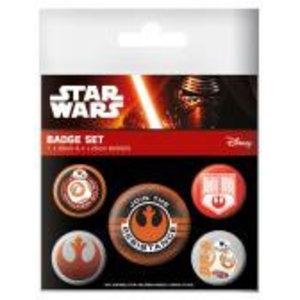 Merchandising STAR WARS 7 - Pack 5 Badges - Resistance