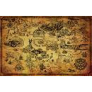 Merchandising LEGEND OF ZELDA - Poster 61X91 - Hyrule Map