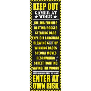 Merchandising GAMING - Door Poster 53X158 - Keep Out