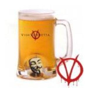 Merchandising VENDETTA - Beer Stein - Rotating Mask Crystal