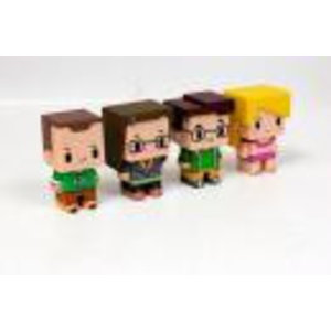 Merchandising BIG BANG THEORY - Set of 4 PIXEL Figures - Model 1