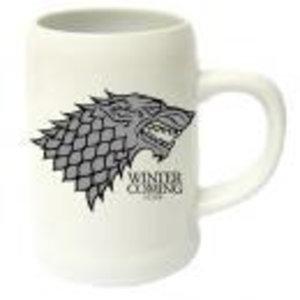 Merchandising GAME OF THRONES - Beer Stein - Winter is Coming Stark Ceramic