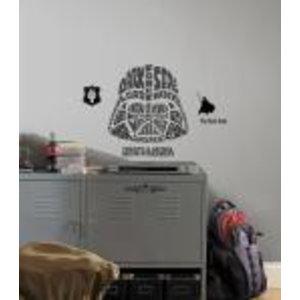 Merchandising STAR WARS - Wall Decals - Typographic Darth Vader