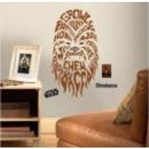 Merchandising STAR WARS - Wall Decals - Typographic Chebacca