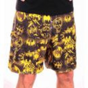 Merchandising BATMAN - Swimming Shorts - All Over Picture BLACK/YELLOW (L)