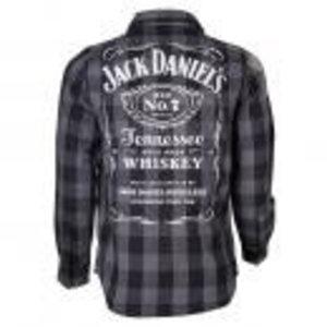 Merchandising JACK DANIEL'S - Checks Shirt - LONG Black/Grey Men (M)