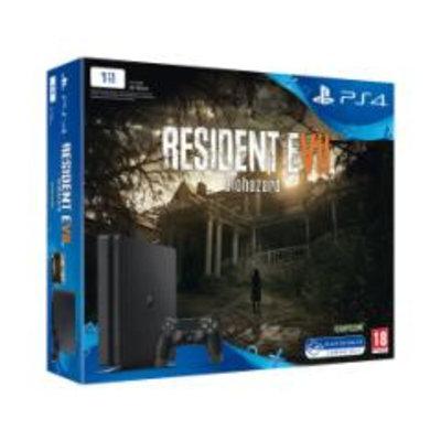 PS4 Console PS4 SLIM - 1 TB - Black Bundle Resident Evil 7