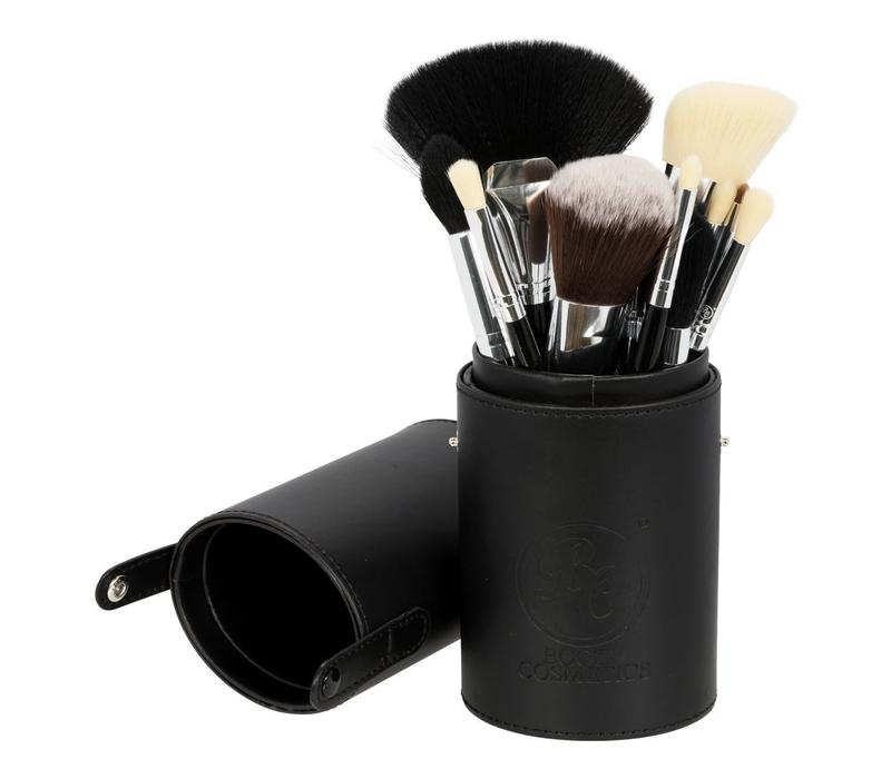 Boozy Cosmetics Oval Brush Cup Holder Black