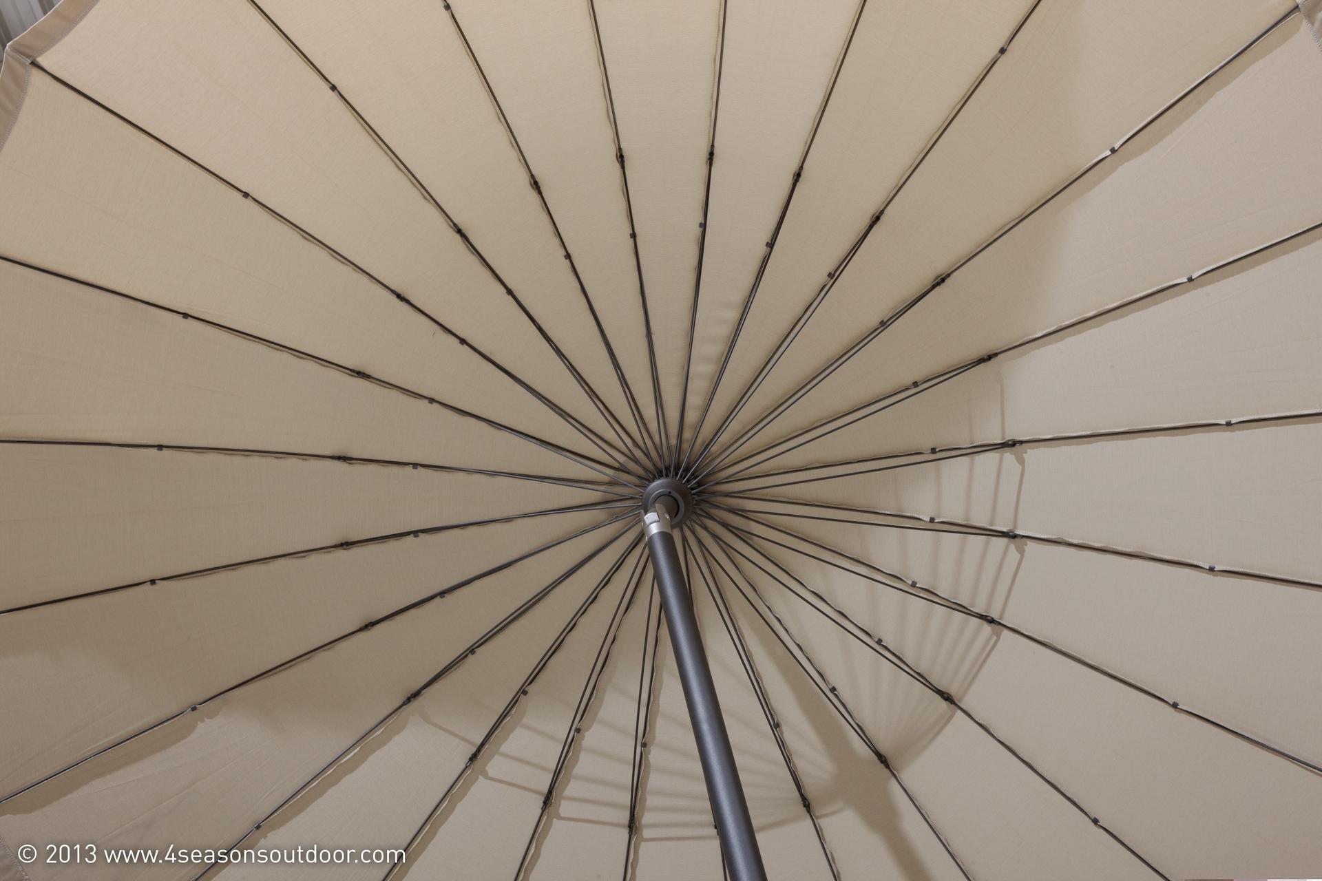 Sonnenschirm Shanghai Taupe 300 cm