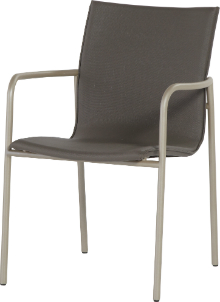 Atrium Stacking Armchair in Taupe