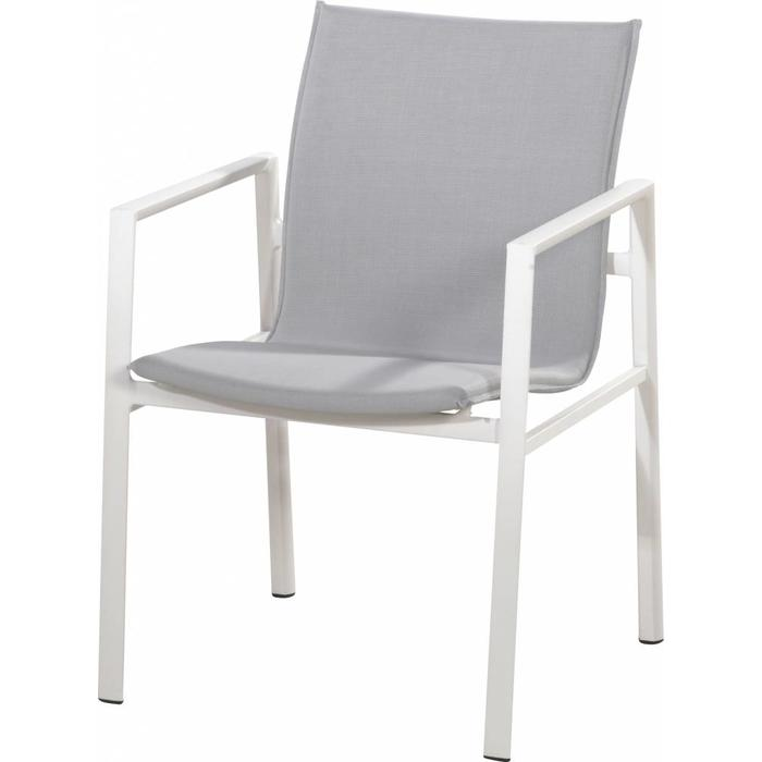 Albion Stacking Armchair in white