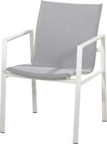 Albion Stapelsessel Aluminium weiß