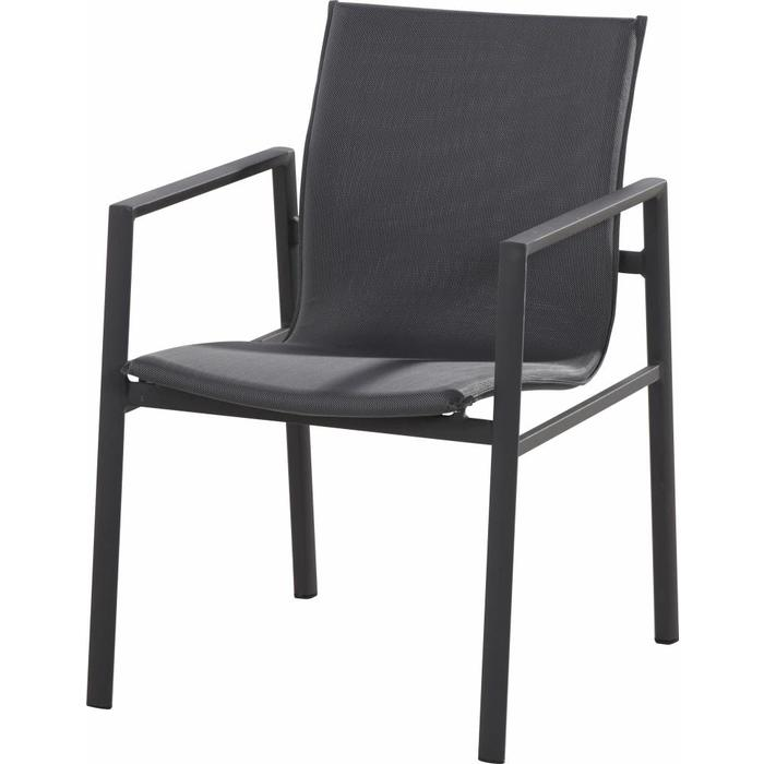 Albion Stacking Armchair in anthracite