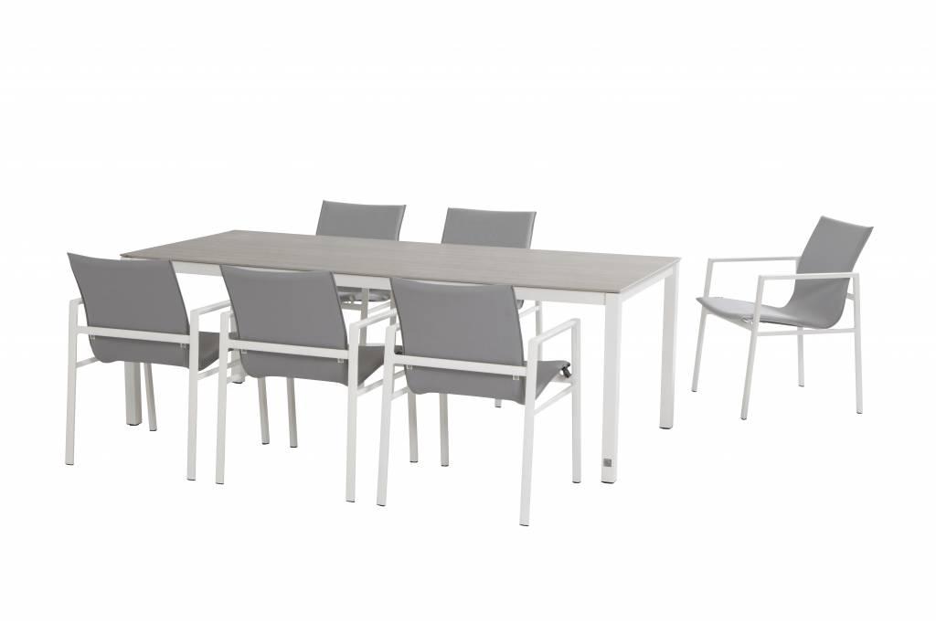 albion gartenm belset aluminium wei boxspringbett. Black Bedroom Furniture Sets. Home Design Ideas