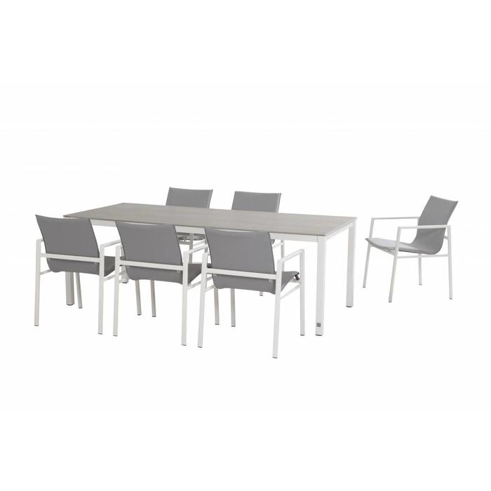 Albion Gartenmöbelset Aluminium weiß