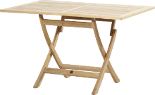 Queens folding teak table 120 cm