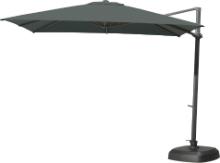 Free arm parasol Siesta Charcoal 300 x 300 cm
