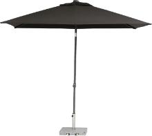Parasol Push Up antraciet 200 x 250 cm