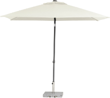 Parasol Push Up wit 200 x 250 cm