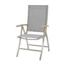 Stainless steel reciliner chair Nexxt ash grey