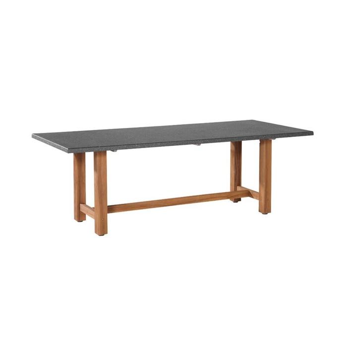 Lazio teak rectangular table 220 x 95 cm