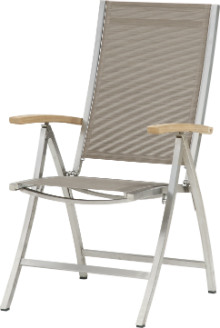 Stainless steel recliner chair Nexxt mocca
