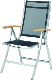 Stainless steel reciliner chair Nexxt black