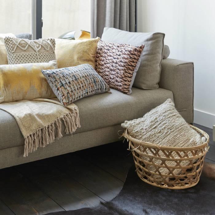 Kaat Amsterdam cushion Golden Knit Gold