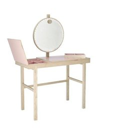 Bloomingville Make up tafel naturel-roze