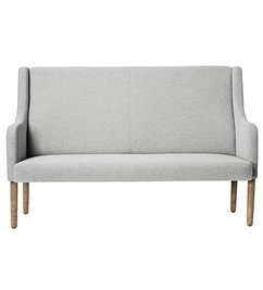 Bloomingville Rest Sofa, Light Grey Polyester w/Smoked Oak Legs