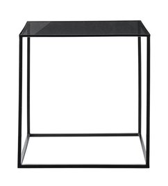 Bloomingville Cube Table, Black Frame w/Smoked Glass Top