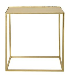 Bloomingville Cube Table, Gold Finish