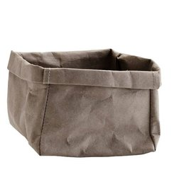 Madam Stoltz Paper storage basket gray -S-