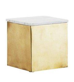 Madam Stoltz Opbergbox goud-marmer 15 cm