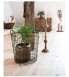 Madam Stoltz Wire Basket antique copper