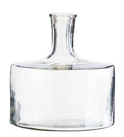 Madam Stoltz Roosa clear glass vase