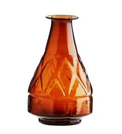 Madam Stoltz Amber vase recycled glass bottle neck