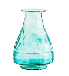 Madam Stoltz Vaasje groen gerecycled glas met fleshals