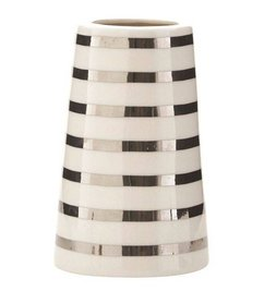 House Doctor Sailor stripes silver vase