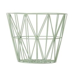 ferm LIVING Wire basket mint
