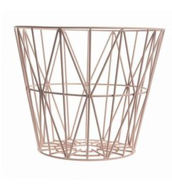 ferm LIVING Wire basket pink