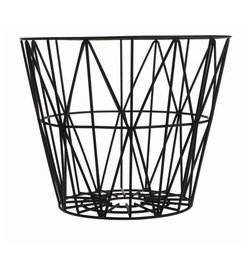ferm LIVING Wire basket black