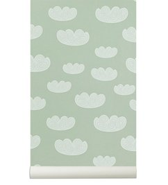 ferm LIVING Cloud Wallpaper - Mint