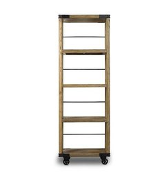 Nordal Wooden bookcase on wheels