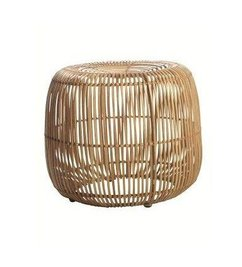 "House Doctor Bamboo ""poof"" Natural Modern round"