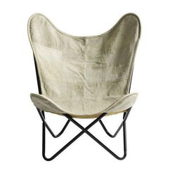 Nordal Butterfly chair recycled canvas
